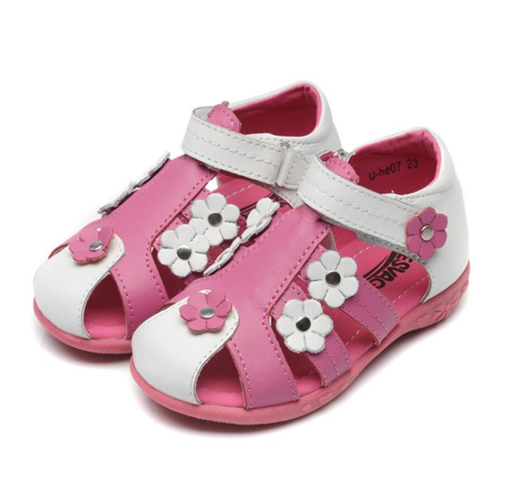 Free Shipping 1 pair Children Sandals Leather Orthopedic shoes, Kids/child's Summer Shoes