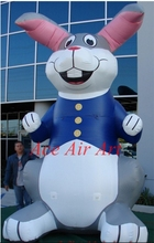 Customized Giant Easter Bunny Inflatable New Zealand Rabbits Balloon with Lights and Air Blower for Advertisements/