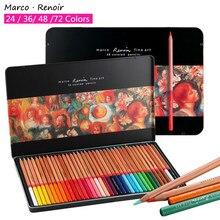 Marco Renoir-boîte en fer, Crayon de couleur professionnelle, crayon de couleur, dessin, fournitures artistiques pour étudiants