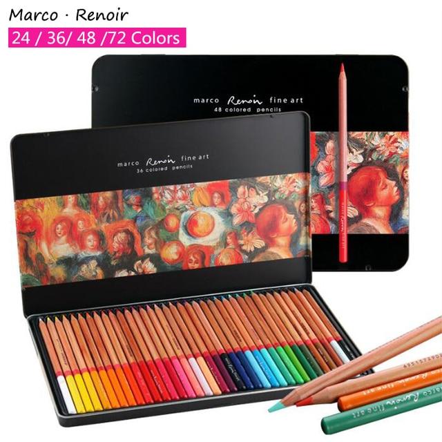 Marco Renoir Professionnel Couleur Crayon Fer Boîte Crayon De