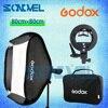 Godox 80x80cm 32 32 Inch Softbox Kit Flash Diffuser S Type Bracket Bowens Holder Bag Kit