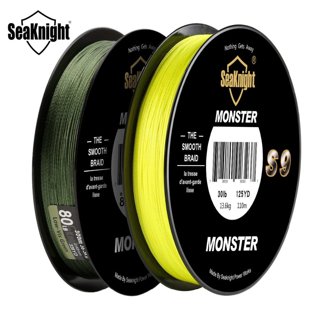 Image 2 - SeaKnight Monster S9 Braid Fishing Line 300M 20 To 100LB Strong Durable 9 Strands Smooth PE Line S Spiral Braided Tech Saltwater-in Fishing Lines from Sports & Entertainment