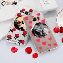 Caseier Lovers DIY Phone Case For Samsung Galaxy S8 Plus S6 S7 edg Soft Silicone Cover Valentines Day Gift Funda Capinha Capa