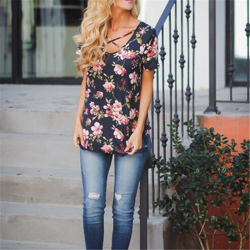 Large-Size-Women-Clothing-2019-Summer-Flower-Print-T-Shirt-Ladies-Fashion-Casual-Short-Sleeve-V