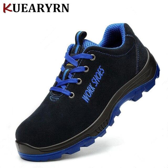 Erkek Iş Güvenliği Ayakkabıları Çelik Ayak Sıcak Nefes erkek günlük çizmeler Delinme Dayanıklı Emek Sigortası Ayakkabı Büyük boy 36---45