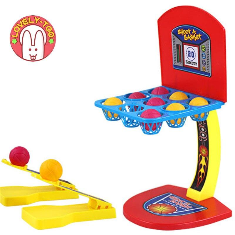 Forældre-barn interaktion Desktop Basketball Spil Uddannelsesmæssige Udendørs Sjov og Sport legetøj Soft Miniature Basketball Skydespil