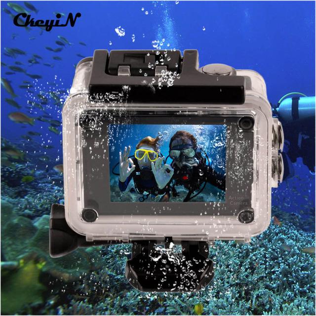 4 K Ultra HD WI-FI Câmera de Ação polegadas LTPS Tela 30 M Subaquática à prova d' Água Ir Pro Câmera de 170 Graus Lente Grande Angular-3131