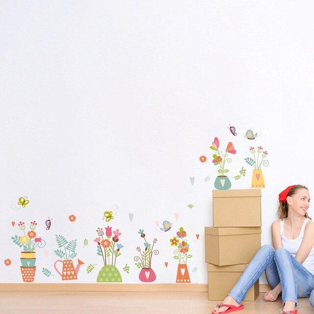Anlage Blumentopfe Muster Wandaufkleber Hochzeit Wohnzimmer