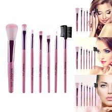 7pcs Makeup Brushes Cosmetic Foundation Maquiagem Powder Eyeshadow Eyelash Eyeliner Brush Blending Cosmetics Beauty Makeup Tools