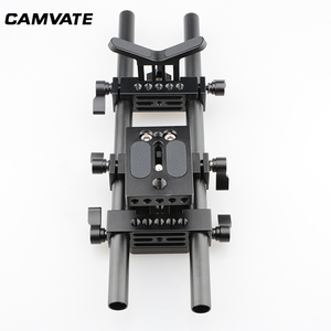 Image 4 - CAMVATE DSLR Camera Shoulder Support Kit With Baseplate Mount & Lens Suppor & Tripod Mounting Plate For Cage/ Tripod/ Stabilizer