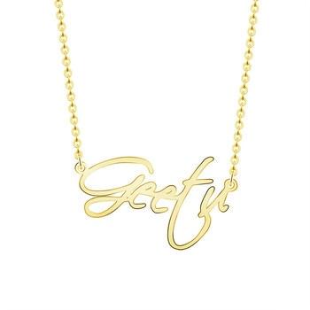5196d6871e19 Joyería personalizada escritura Font nombre cursivo collares mujeres  hombres plata oro rosa gargantilla collar BFF boda dama de honor regalo