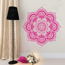 Mandala Wall Decal Namaste Flower Indian Lotus Yoga Decals Vinyl Sticker Interior Home Decor Art