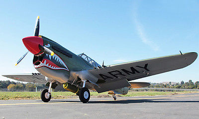 Huge Scale Skyflight 2M Wingspan RC P40 EPO Warhawk Propeller RTF Airplane Model Ready To Fly TH03129