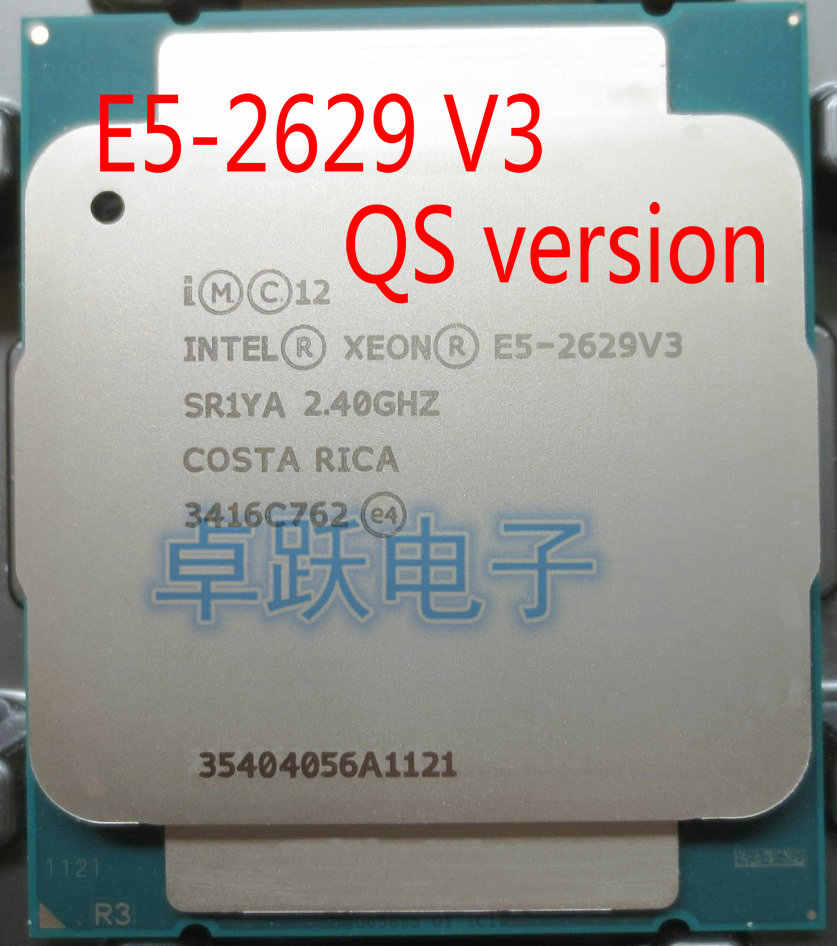 QS version E5-2629 V3 Original Intel Xeon E5-2629V3 2.40GHZ 8-Core 20MB E5 2629 V3 FCLGA2011-3 TPD 85W free shipping