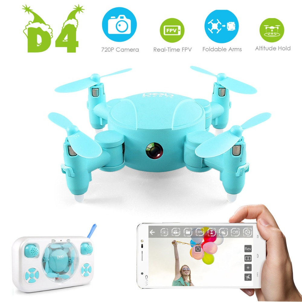 Mini D4 FPV RC Drone with Wifi 720P Camera 2 4G 6 Axis With One Key