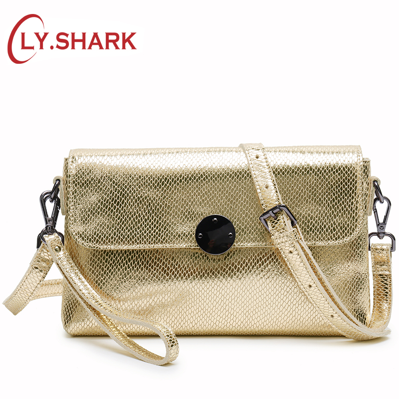 LY.SHARK Shoulder Crossbody Bags For Women 2018 Ladies Genuine Leather Handbag Women Small Messenger Bag Female Clutch Gold Bag