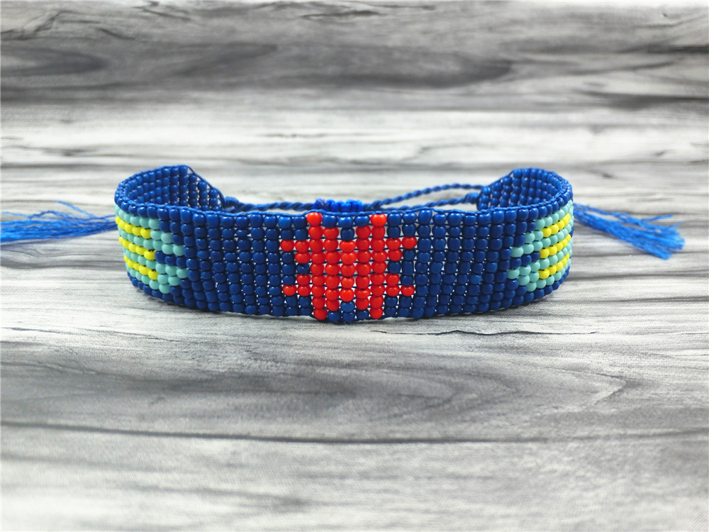 AMIU Handmade Friendship Bracelet Hippy Colorful Seed Beads Charm Friendship Trendy Bracelets For Women Men Christmas Day 18 2