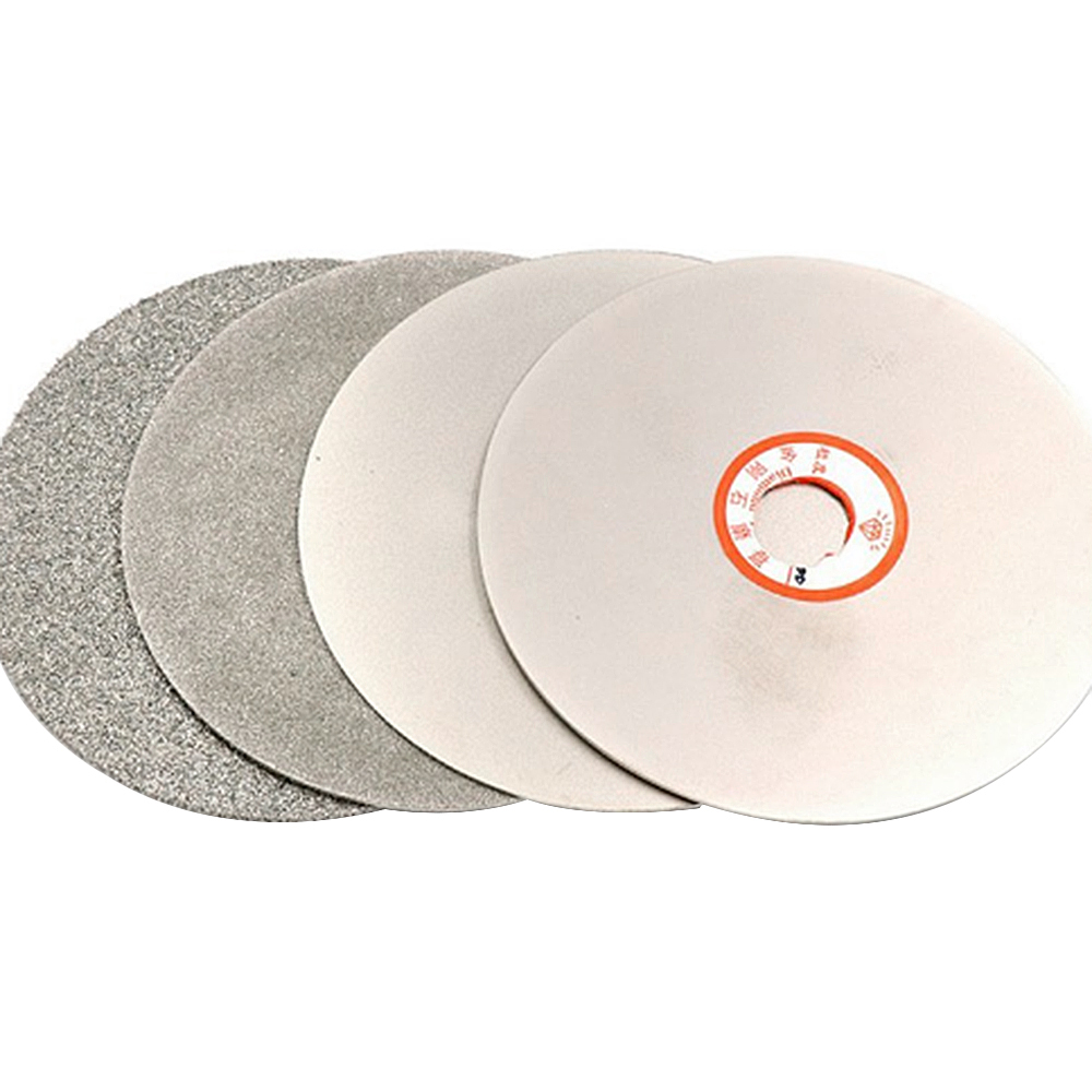 Cnbtr 4 Inch 100mm Diamond Coated Grinding Wheel 400-3000 Grit  Lapidary Polishing Disk Single Side Polishing Grinding Disc