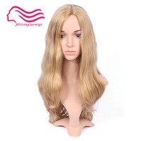 Tsingtaowigs небольшая волна блондинка Европейских Реми волосы кошерный парик, еврейский парик Бесплатная доставка