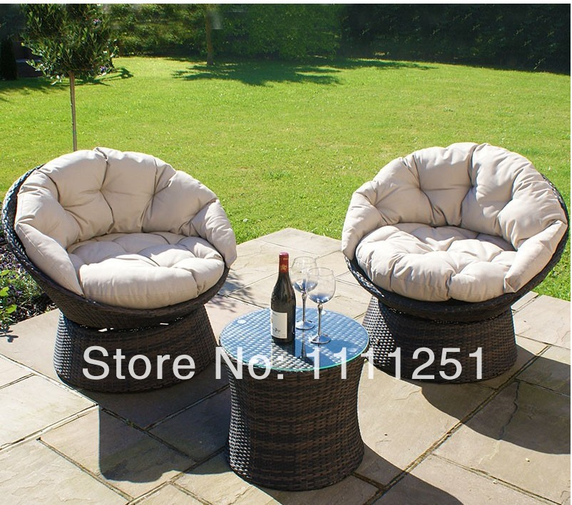 All Weather Outdoor Wicker Furniture Sofa Set Swivel Lounge Chair Set With  Coffee Table In Garden Sofas From Furniture On Aliexpress.com | Alibaba  Group