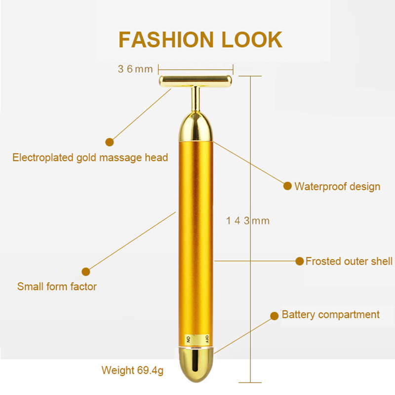 1Pcs Electric Skinny Stick Gold 6000 Minutes High Frequency Fashion Waterproof Thin Face Tool Girl Household Skinny Stick in Powered Facial Cleansing Devices from Home Appliances