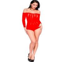 для женщин сексуальное женское белье горячей эротический с открытыми плечами нижнее белье плюс размеры длинные slevee встречается белье боди стринги