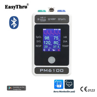 EasyThru PM6100 Medical Vital Signs monitor ECG Resp Temp NIBP SpO2 Heart rate Multi Parameter Portable ICU Patient monitoring