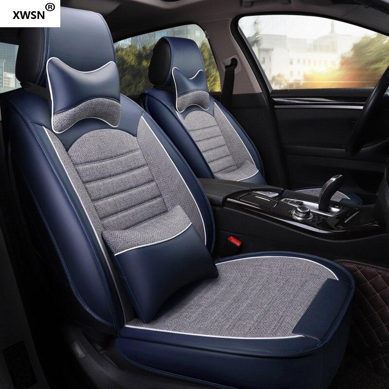 Housse de siège de voiture en cuir pu pour hyundai getz solaris Elantra Tucson veloster creta i20 i30 ix35 i40 accessoires de voiture - 4