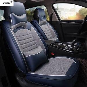 Image 4 - pu leather linen car seat cover for hyundai getz solaris Elantra Tucson veloster creta i20 i30 ix35 i40 Car accessories