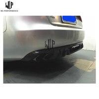 A5 Carbon fiber DTM type rear bumper lip spiler auto rear diffuser cover fit for AUDI A5 4 Door 09 11 Car styling use