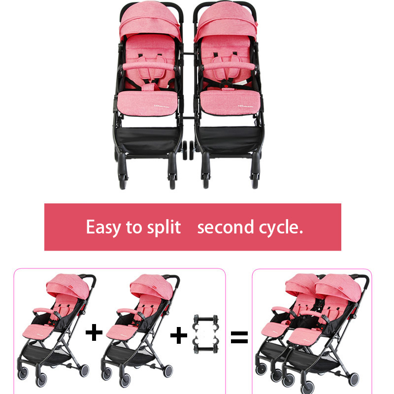 RU free ship! 4.9KG twin baby stroller can be split stroller  lightweight folding  Baby carriage  can be on plane Umbrella carts