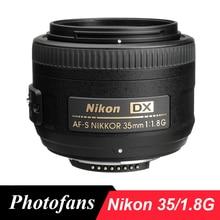 Nikon 35 1.8g lentes nikkor af-s 35mm f/1.8g lente dx para nikon d3200 d3300 d3400 d5500 d7200 d7100 d90 d5200 d5300 D500