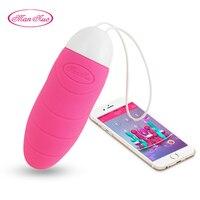 Man Nuo Vibrating Egg Remote Control Vibrators Sex Toys for Women Exercise Vaginal Kegel Ball G-spot Massage USB Rechargeable R4