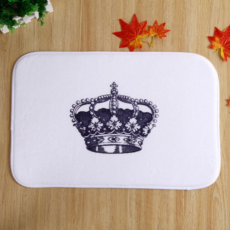 Large Crown Home Bedroom Indoor Doorway Keep Clean Mats Plush Fabric Carpet Hotel Blankets Wholesale Drop Shipping