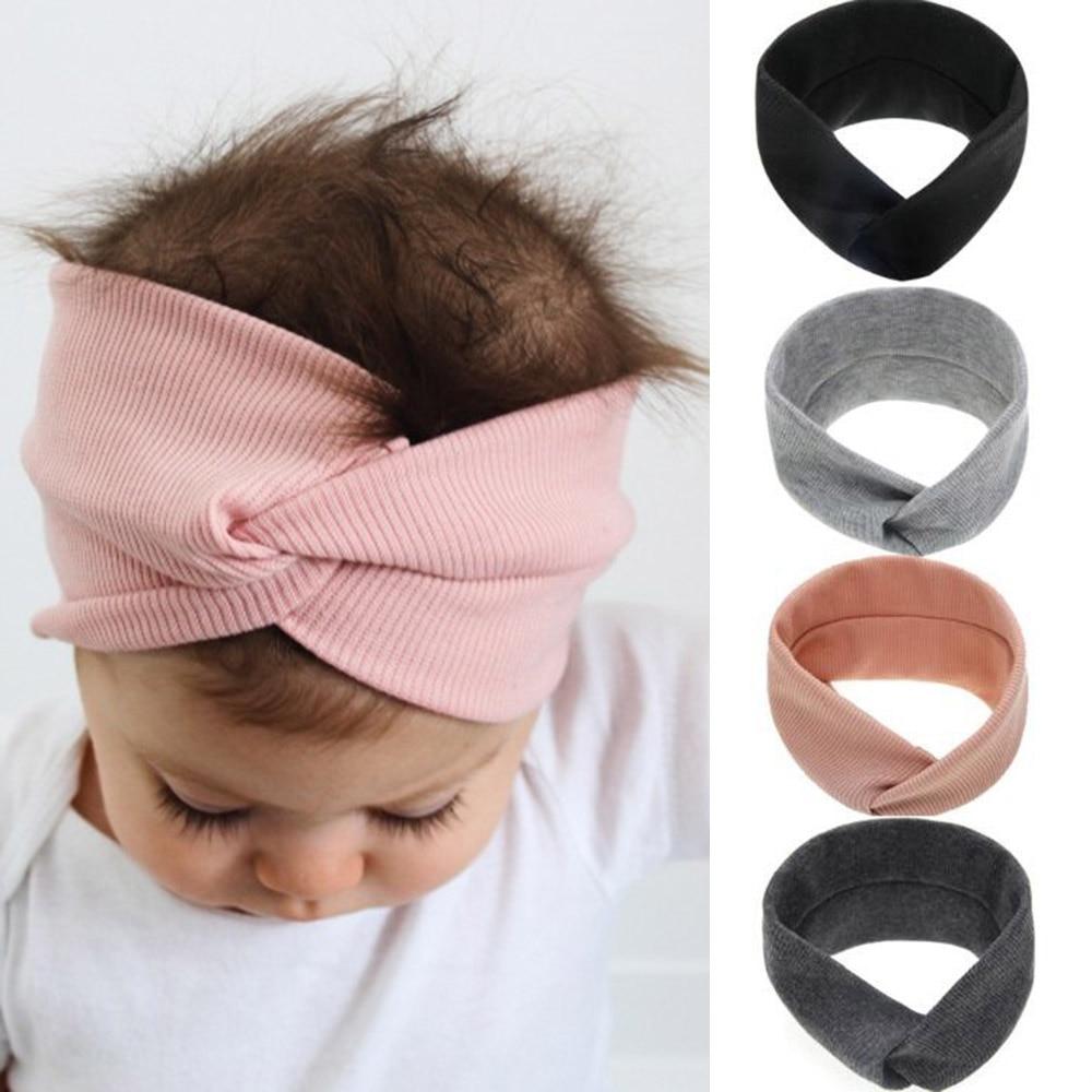 Lovely Girls Kids Girl knotted Hairband Baby Headband Turban Knot Head Wrap top