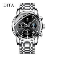 2019 hot custom logo stainless steel relojes hombre sport chronograph man hand wrist bracelet watch men