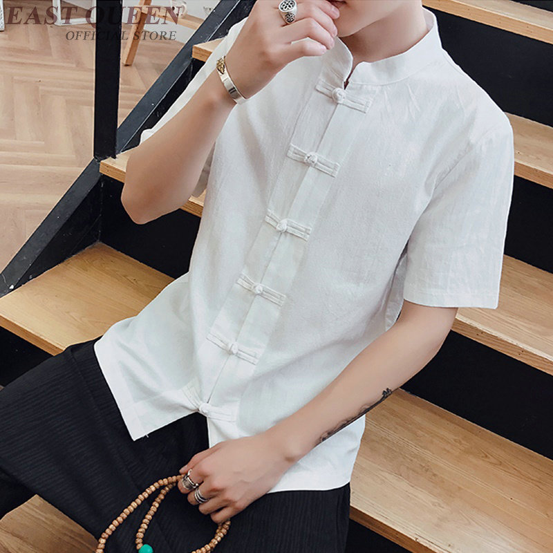 Traditional chinese clothing for men shang hai blouse tops traditional chinese shirt tops chinese market online AA3880 Y A