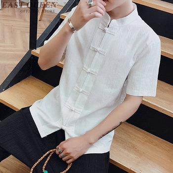 Tradycyjna chińska odzież dla mężczyzn shang hai bluzka topy tradycyjna chińska koszula topy chiński rynek online AA3880 Y A tanie i dobre opinie Dzianiny EASTQUEEN COTTON Linen chinese market online traditional chinese shirt tops