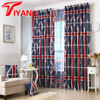 Flag Of The United Kingdom Pattern Modern Design Thick Shade Cloth Good Light Penetrate Sheer Tulle