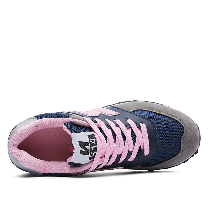0fd2d27517 Classical Running Shoes Women Breathable Mesh Sneakers Durable Cushioning  Platform Lace up Sports Shoes Wear-resistant Sneakers