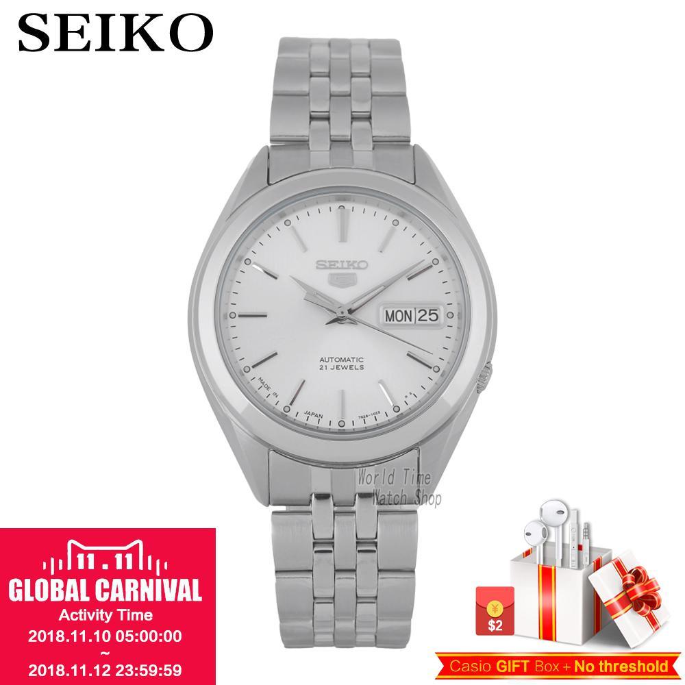 SEIKO No. 5 Watch automatic mechanical watch calendar waterproof business men's watch made in JAPAN SNKL15J1 SNKL21J1 SNKL19J1 цена и фото