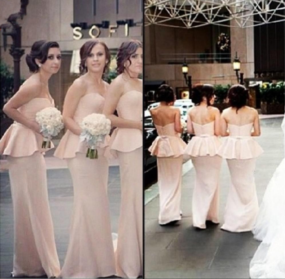 Online get cheap two tone chiffon bridesmaid dresses aliexpress 2016 pink sweetheart strapless sheath two tone pep ombrellifo Gallery