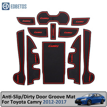 Door Groove Mat For Toyota Camry 2012-2017 7 Gen XV50 Altis Aurion 50 MK7 Anti-Slip Gate Slot Coaster Anti-Dirty