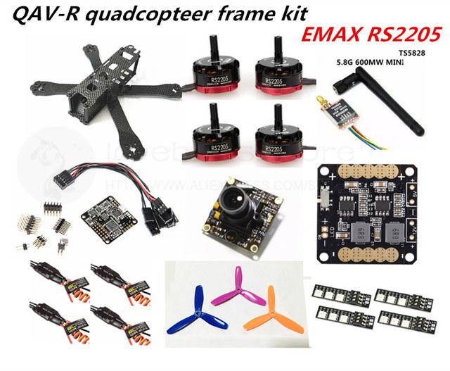 DIY FPV mini drone with camera QAV-R quadcopter 4x2x2 frame kit EMAX RS2205 + littlebee 20A ESC 2-4S + NAZE32 Rev6 10DOF +TS5828