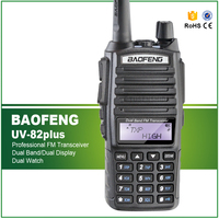 8W Max Long Range Two Way Radio Scanner Transmit Police Fire Rescue Dual Band Ham Walkie Talkie UV 82plus