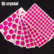 QL Стекло кристалл для нашивки стразами красная роза округлые с плоской нижней поверхностью камень для торжественное платье DIY одежды сумки обувь аксессуары