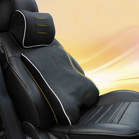 lsrtw2017 fiber leather memory cotton car headrest seat lumbar Air conditioner quilt for renault koleos captur clio kadjar