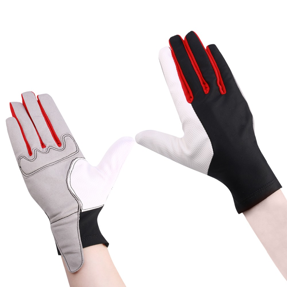 Riding Gloves Professional Anti-skidding Horse Riding Equestrian Leather Gloves Soft Sports Gloves QMST-01