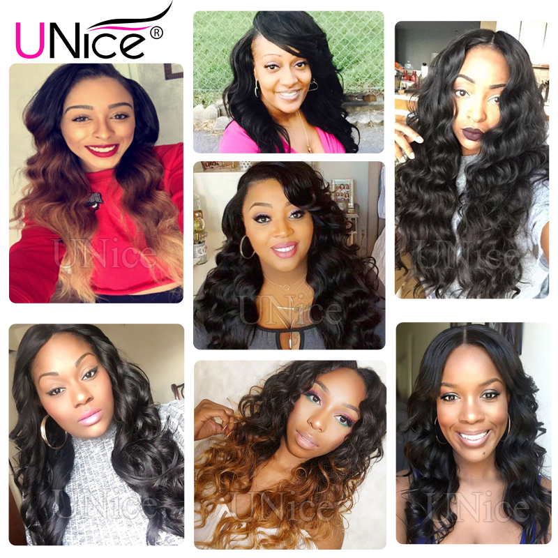 Image 5 - UNICE Hair Body Wave Bundles With 5X5 Closure Brazilian Hair Weave 3 Bundles With Closure 100% Human Hair Bundles 4PCS-in 3/4 Bundles with Closure from Hair Extensions & Wigs