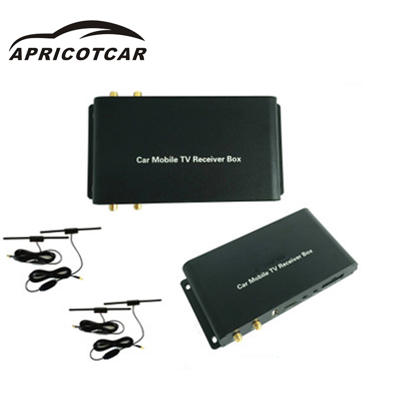 Car Four-antenna High-definition Digital TV Set-top Box Speed 180 Km / H Russia  for All with AV Input Function of The Display top high speed full teeth piston